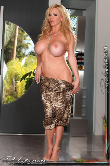 Rachel Aziani Busty MILF Masturbates with Glass Dong