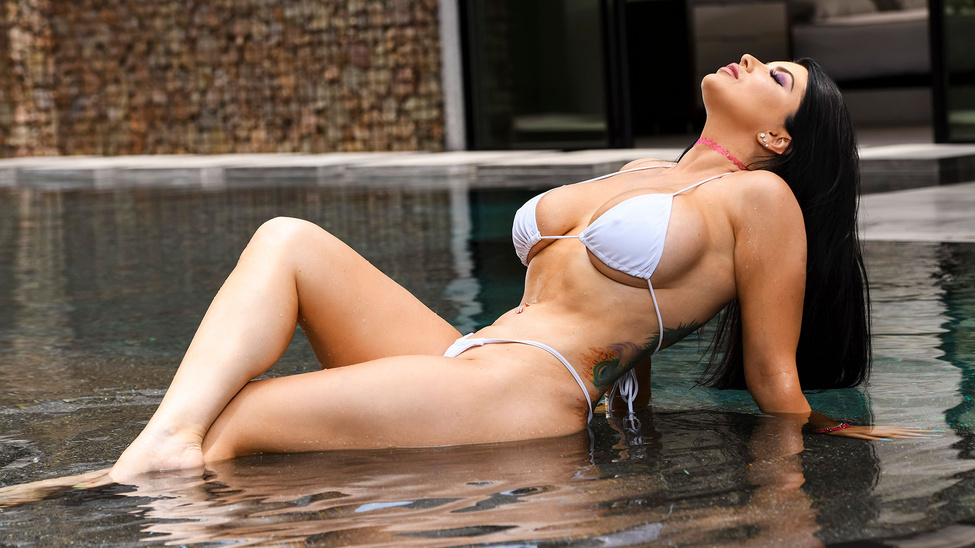 Romi Rain in Pounded By The Pool